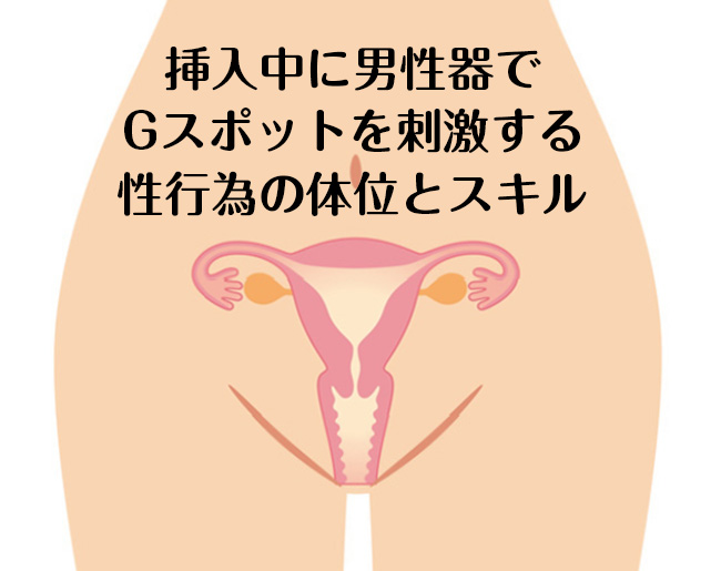 挿入中に男性器でGスポットを刺激する性行為の体位とスキル